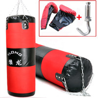 Wholesale 100cm Unfilled Suspended sandbag glove Boxing punching bag training