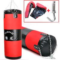 Wholesale 100cm Unfilled Suspended sandbag glove Boxing punching bag training