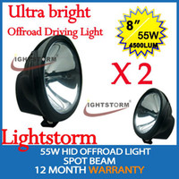 Wholesale 1Pair Ultra bright W HID XENON X4 OFFROAD VEHICLE DRIVING HEADLIGHT SUV WD ATV UTV JEEP HID LAMP