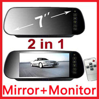 Wholesale 7 quot TFT LCD Car Rear View Monitor in Mirror for Camera VCD Car DVD GPS