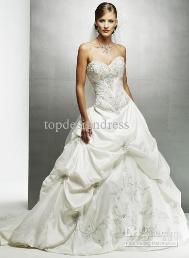 30% Off!!!2011 Hot Sale Affordable Wedding Dresses A Line Applique ...