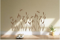 Wholesale FASHION Decoration Wall stickers Home decor Art Murals Decals Wall paper PVC A184 Reed flowers