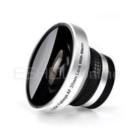 Wholesale 37mm Lens With Macro for Canon Nikon Sony Digital Camera Silver X Fisheye AF E0101D Eshow