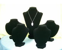 Wholesale Hot selling Jewellery Display Stand set Black Velvet necklace jewelry holder pack