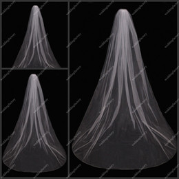 Wholesale Tulle Veils Simple Design White Ladies Wedding Veils Elbow Length Veils