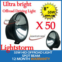 Wholesale 50pcs Ultra bright hid xenon offroad driving light for x4 offroad vehicles road roller SUV WD UTV