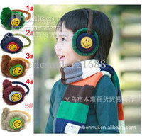 Wholesale Children s earmuffs Smile face ear muff Baby s love Plush earmuff Kids Winter ear warmer