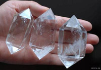 Wholesale 3 natural quartz rock crystal double terminated point healing