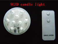 Wholesale hot sale waterproof LED candle light submersible led light with remote controler white