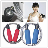 Wholesale men and women steel skip skipping jump jumping rope fitness products