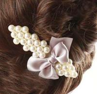 Wholesale Korean hair hairpin hairpin pearl butterfly duckbill clips