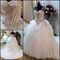 Wholesale Luxury Sexy Rhinestone Spaghetti strap Sequin Beading Laciness Bowknot Bridal Dress Wedding Gowns
