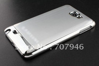 Wholesale aluminium chrome skin hard back case cover for phone Samsung Galaxy Note i9220 N7000