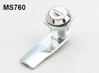 Wholesale MS760 cylinder lock with bright housing and white steel cam for all kinds of cabinets door