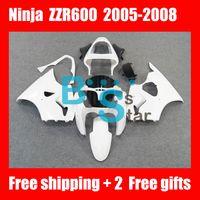 Gloss White For KAWASAKI Ninja Free shipping+ gifts ZZR600 05...