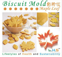 Wholesale Maple Leaf shape cookie cutters cake molds biscuit bakeware