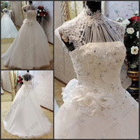 2013 Newest Elegant Sexy Applique Lace High Collar Sequin Fl...