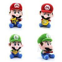 Father's day baseball games toys - New Super Mario Bros Mario Luigi With Star Money Baseball bat Bricks Plush D