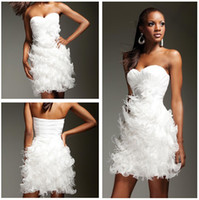 Reference Images feather cocktail dress - 2013 New Sexy Sweetheart Mini Short Little White Party Dresses Feather Cocktail Dresses TS11366