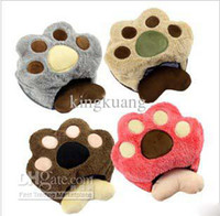 Wholesale 2012 new bear paw with hand pillow USB heating mouse pad cartoon cute heating hand warmers villi