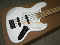 advanced bass jazz bass - White Strings Jazz Bass Guitar High Quality guitars from china