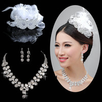 arrival earrings jewellery - New Arrivals Perfect Bridal Jewellery Sets Mask Bridal Tiara Flower Bridal Necklace and Earrings Set