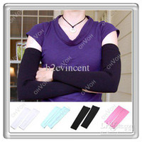 Wholesale S5Q Pair UV Sun Protection Outdoor Sports Cover Cooling Fashion Arm Sleeves