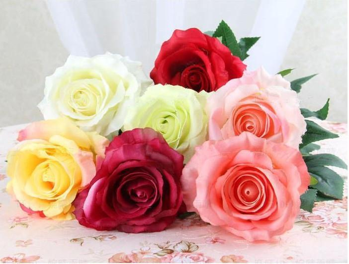 Pictures Of Wedding Decorations Bridal Bouquets Flowers Artificial Rose Simulation Roses In Bulk