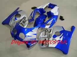 blue silver fairing kit For Honda CBR250RR MC22 1991-1998 CBR 250RR CBR250 91 92 93 94 bodywork