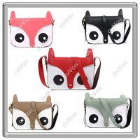 Wholesale S5Q NEW Japan Fox Cartoon messenger Tote Shoulder Bag Exclusive PU Leather Handbag Satchel AAABCS