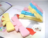 Wholesale high quality bow food sealed folder beautiful bags folder bowknot sealing clamp
