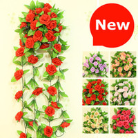 Wholesale wedding decorations flower vine artificial rose simulation roses silk flower