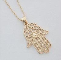 14k gold - 2013 women s k gold necklaces lucky hamsa hand fatima valentine gifts Xmas gift