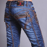 Wholesale Mens Stylish Slim Fit Special Jeans Denim Top Zip New Clubwear Size W L32