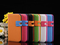 football cards - Flip Leather Case PU stand Wallet football line Cover ID Card Slot for samsung Galaxy note N7100