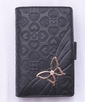 Wholesale Very popular lowest price ladies wallet stylish black wallet