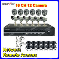Wholesale CCTV Surveillance Channel DVR System SONY CCD TVL Security Camera CH DVR Kit Camera Netwo