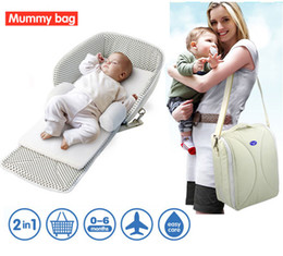 Wholesale 2 IN Mummy package Multifunction Packages Small Bed Bag Cots Satchel Backpack
