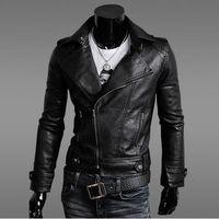 korean leather jacket - Man Leather jacket Loose coat Leather clothing Korean Mens wear