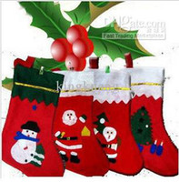 Wholesale Christmas stockings Patch socks Christmas tree ornaments pendant Christmas decoration gift