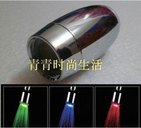 ABS abs pressure sensor - No Battery Colors Water Pressure Sensor ABS Durable LED Faucet Glow Shower freeshipping