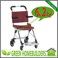 Wholesale ultra lightweight folding aluminum wheel chair for airport GHFWC