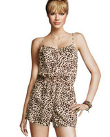 Cotton Shorts Women 2013 Hottest Jumpsuits Union Suits Sexy Leopard Dresses Women's Jumpsuits & Union Suits AMY-10