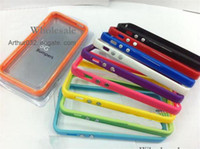 Wholesale High Recommend Bumper Case for iPhone G TPU Bumper Border With Metal Button Case iPhone5 Random