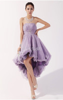 2013 Sexy Light Purple Short Cocktail Dresses Strapless Ruch...