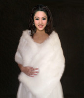 Wholesale 2013 Ivory Feathers Cheap Winter Fur Wedding Sleeveless Wrap Cape Shawl Jackets