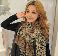 Wholesale New Pashmina Scarf Shawl Leopard Warm Scarf Animal scarves Winter Wrap Stole Black White