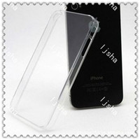 Wholesale DHL FREE Hard Plastic Clear crystal transparent cover case for iphone G S