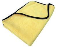 Wholesale 2PC gsm cmx60cm Plush Microfiber Buffing Towel Microfibre Polishing Towels Cloths Satin Border