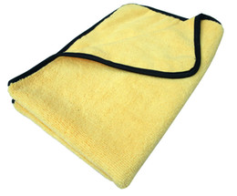 Wholesale 2PC gsm cmx60cm Plush Microfiber Buffing Towel Microfibre Polishing Towels Cloths Satin Border